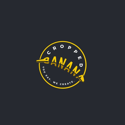 Banana design with the title 'Logo design for cropped banana'