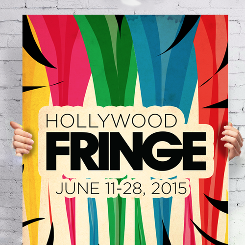 Hollywood design with the title 'Guide Cover for the 2015 Hollywood Fringe Festival'