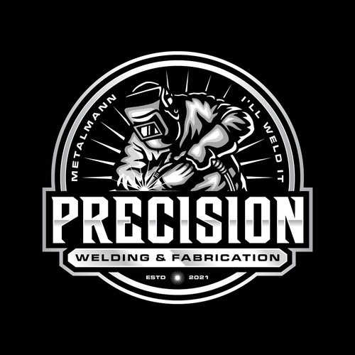 Steel logo with the title 'Precision'