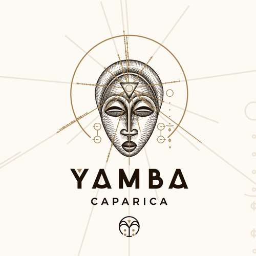 Hand-drawn brand with the title 'Yamba Caparica - Logo Design and Brand Image'