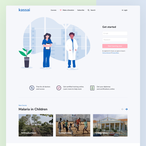 Concept website with the title 'Kassai'