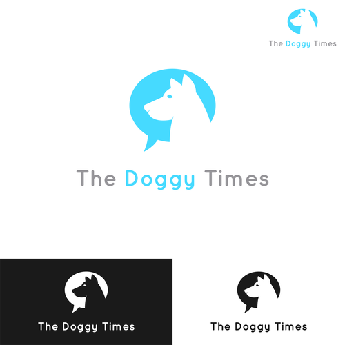 Kawaii design with the title 'the doggy times'