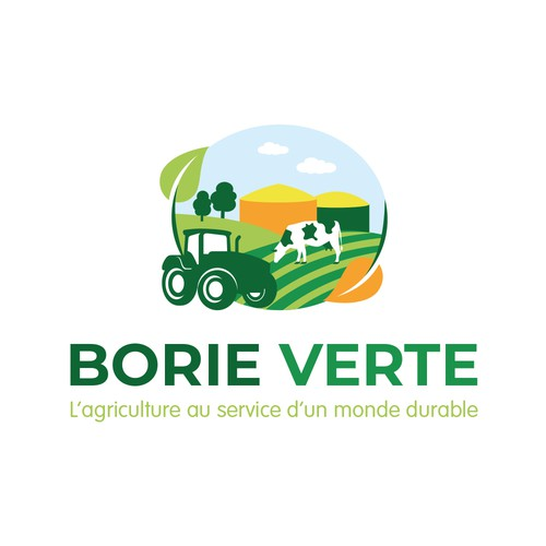 Rural design with the title 'Borie Verte logotype'