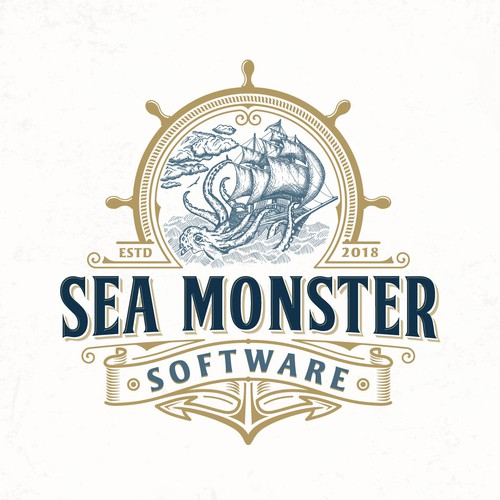 Ship design with the title 'Sea Monster Software'