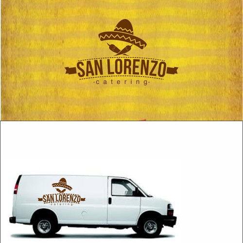 Mexican logo with the title 'San Lorenzo Catering'