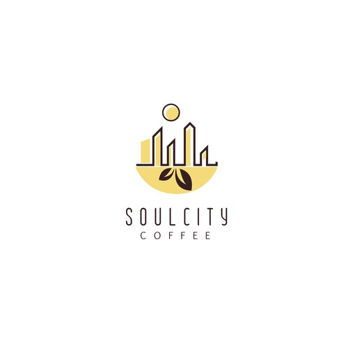 Coffee shop logo with the title 'Logo concept for soulcity coffee'
