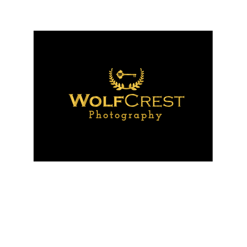 Wreath logo with the title 'Photography Logo'