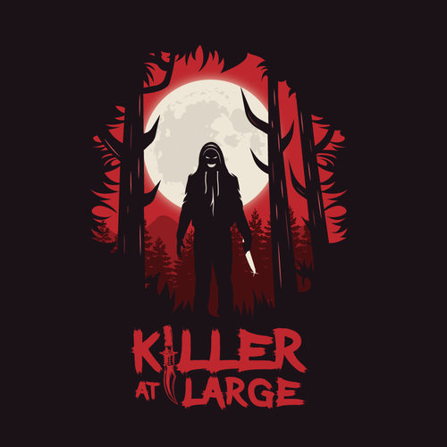 Thriller logo with the title 'Logo design'