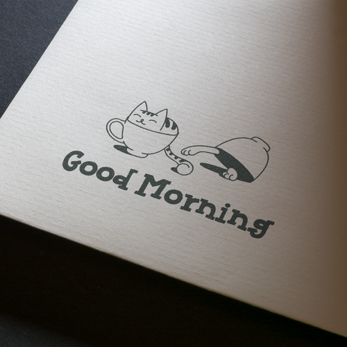 Teapot logo with the title 'Good Morning / logo'