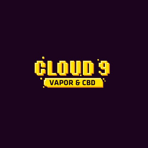 Old school logo with the title 'Cloud 9 - Logo Proposal'