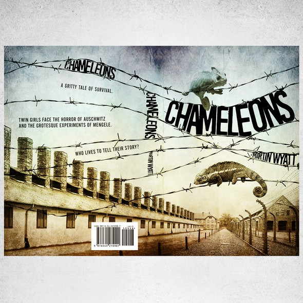 WW2 design with the title 'Book cover for Cameleons'