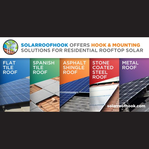 Solar panel design with the title 'Bold Wall Banner Design Winner'