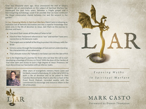 Religious book cover with the title 'Liar'