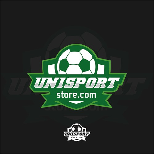 Soccer ball design with the title 'Unisport '