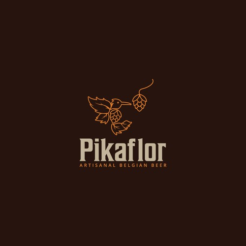 Drinking logo with the title 'Pikaflor'