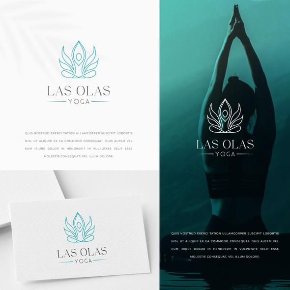 Meditation logo with the title 'Las Olas Yoga Logo Design'