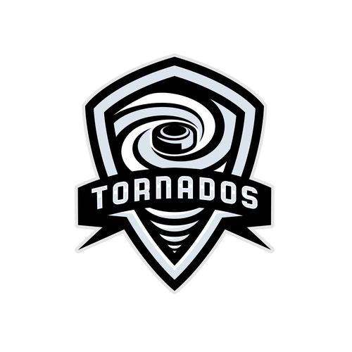 Tornado logo with the title 'Tornados Shields Hockey logo'