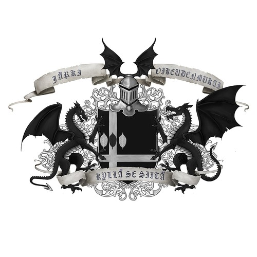 Coat of arms design with the title 'Personalized Medieval Style Coat of Arms'