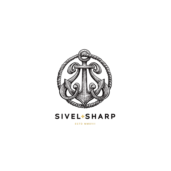 """Nautical design with the title '""""Civil + Sharp"""" - Civil for being a veteran owned brand and sharp for the well-dressed man.'"""