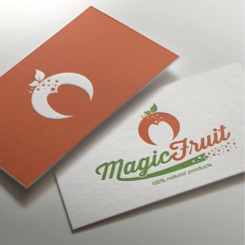 Fresh logo with the title 'Magic Fruit logo proposal'