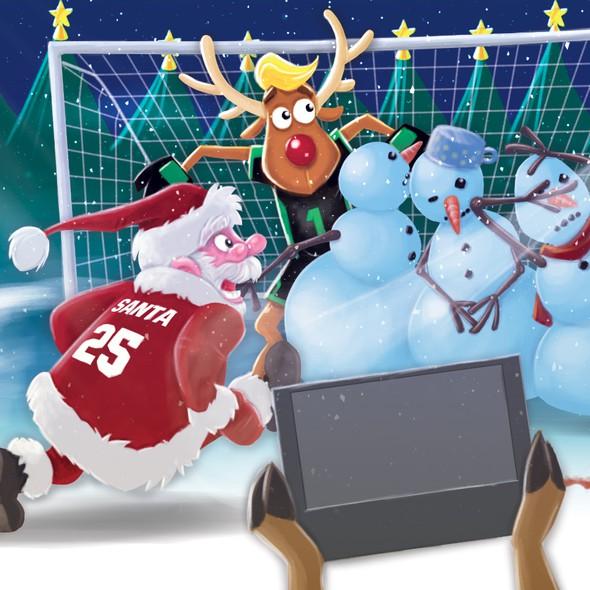 Santa artwork with the title 'Design for an advent calendar'