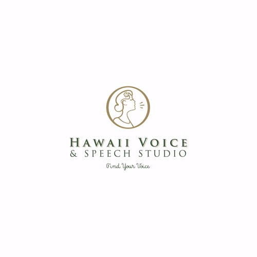 Hearing logo with the title 'Hawaii Voice and Speech Studio'
