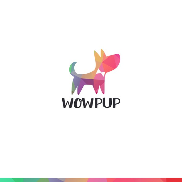 Dog logo with the title 'Logo design'
