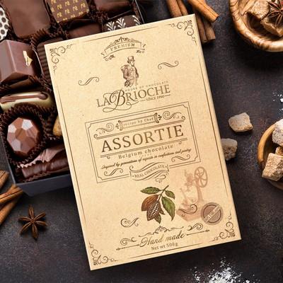 LaBrioche hand-made chocolate packaging design