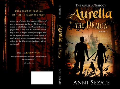 Series book cover with the title 'Book Cover for Aurella the Demon (Book 3)'