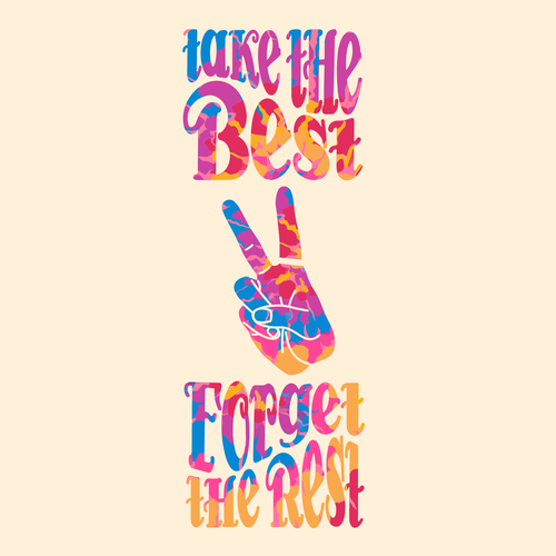 Groovy design with the title 'Sassy typography for t-shirts and posters'