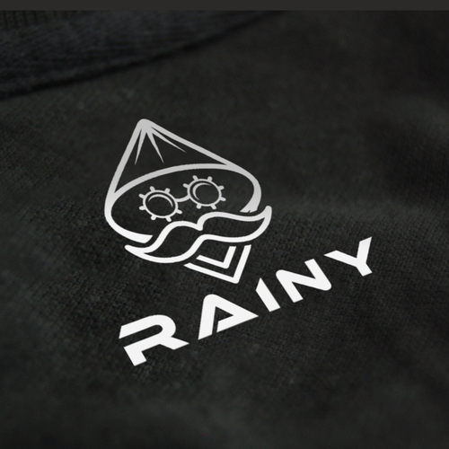 Rain logo with the title 'Rainy cothing logo'