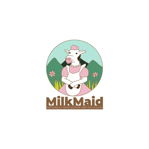 Milk brand with the title 'Milkmaid logo'