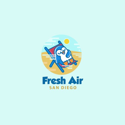 Atmosphere logo with the title 'Logo Fresh Air'