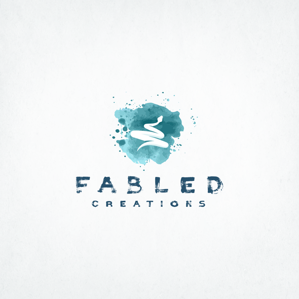 Python logo with the title 'Fabled Creations logo'