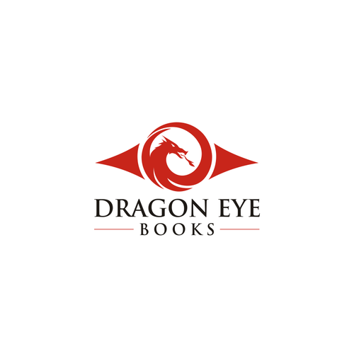 Publisher design with the title 'Dragon Eye Books logo design'