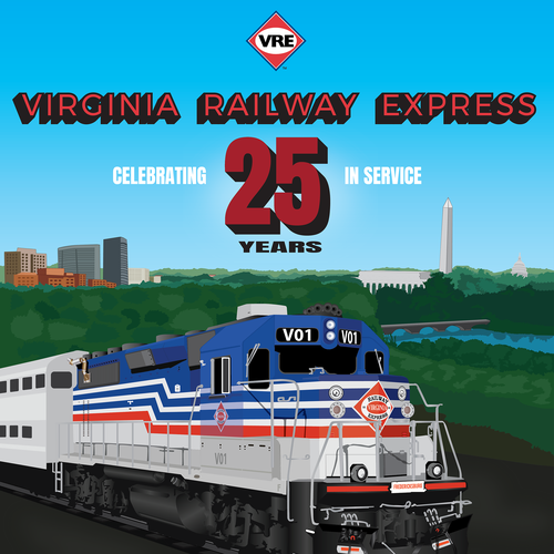 Virginia design with the title 'Poster for Virginia railway express'