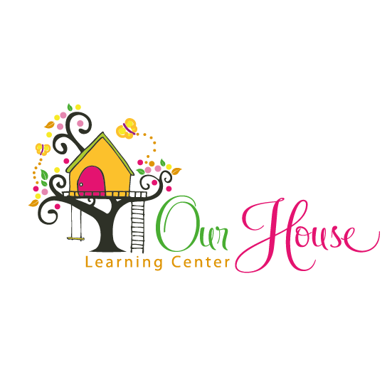Center design with the title 'whimsical cute treehouse logo'