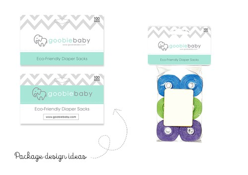 Baby packaging with the title 'Package design'