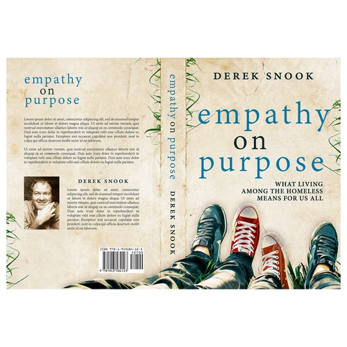 """Spiritual book cover with the title 'Book cover for """"Empathy on Purpose""""'"""