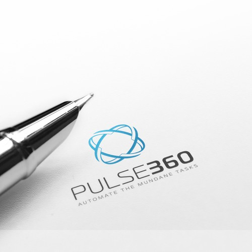 "Pulse design with the title 'Logo concept ""Pulse360""'"