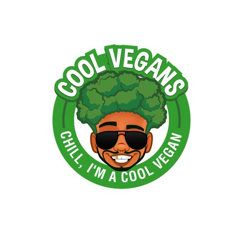 Afro logo with the title 'COOL VEGANS'