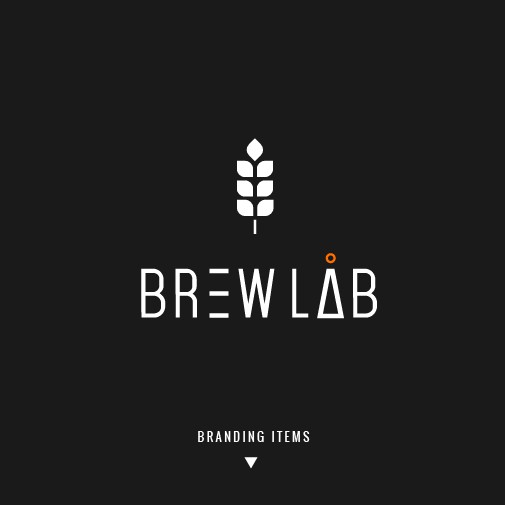 New brand with the title 'Brewery lab logo'