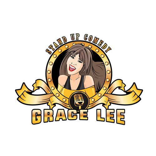 Tv show logo with the title 'Logo for a Korean female stand up comedian'