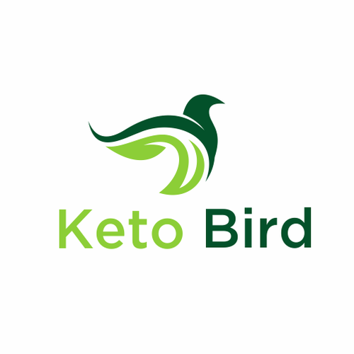 Dark green logo with the title 'Keto Bird'