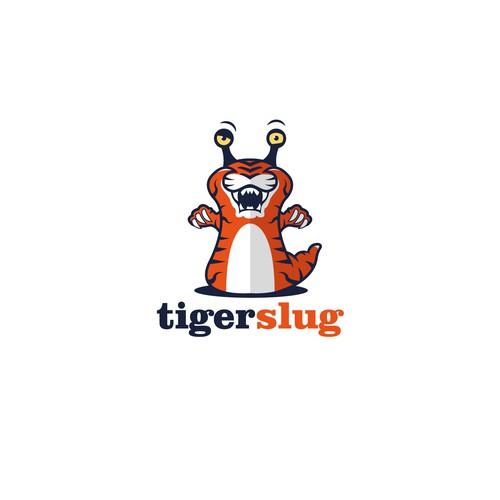 Snail design with the title 'Tiger Slug'