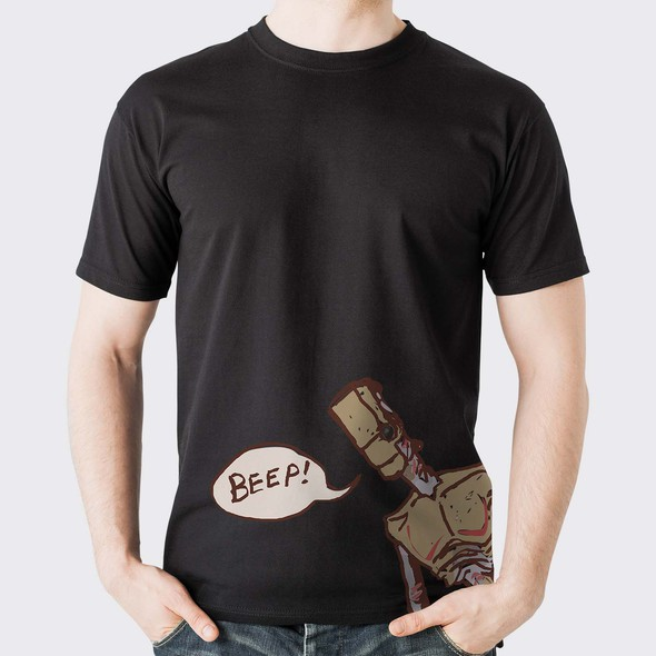 Gray and brown design with the title 'KENSHI -Video game character - official game t-shirt'