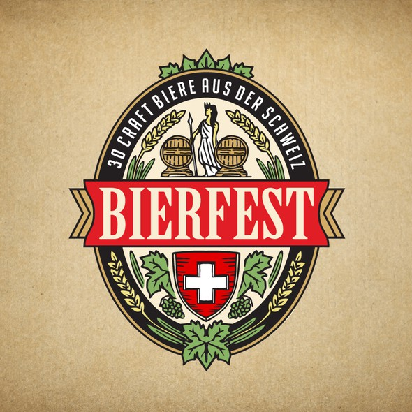 Festival design with the title 'Logo for the largest beer festival in Switzerland'