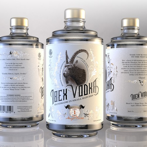 Vodka label with the title 'Vodka label design'
