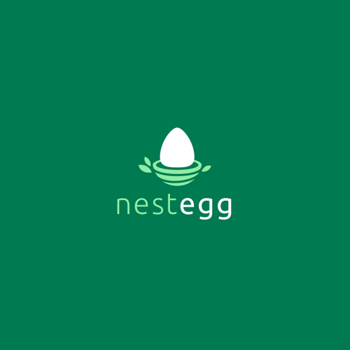 Egg design with the title 'NestEgg'