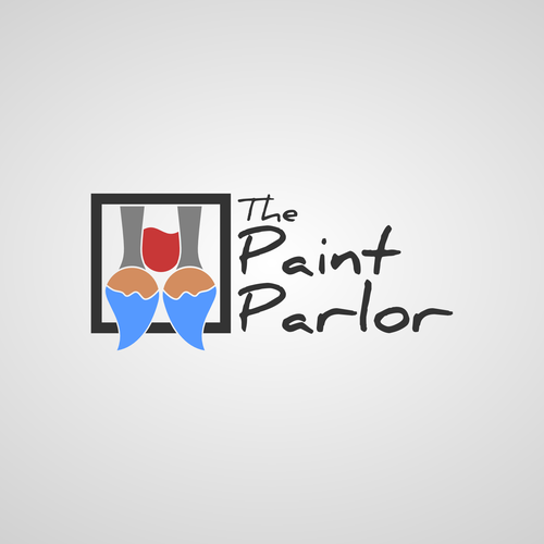 Wine bar design with the title 'Paint Parlor'